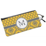 Damask & Moroccan Genuine Leather Eyeglass Case (Personalized)
