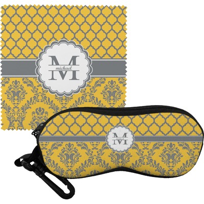 Damask & Moroccan Eyeglass Case & Cloth (Personalized)
