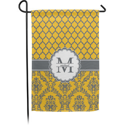 Damask & Moroccan Single Sided Garden Flag With Pole (Personalized)