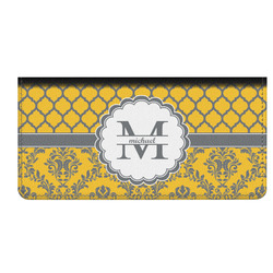 Damask & Moroccan Genuine Leather Checkbook Cover (Personalized)