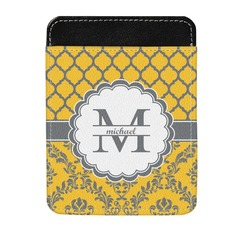 Damask & Moroccan Genuine Leather Money Clip (Personalized)