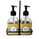 Damask & Moroccan Glass Soap & Lotion Bottles (Personalized)