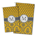 Damask & Moroccan Golf Towel - Full Print w/ Name and Initial