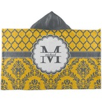 Damask & Moroccan Kids Hooded Towel (Personalized)
