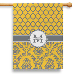 """Damask & Moroccan 28"""" House Flag (Personalized)"""