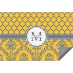 Damask & Moroccan Indoor / Outdoor Rug (Personalized)