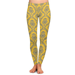 Damask & Moroccan Ladies Leggings - Large (Personalized)