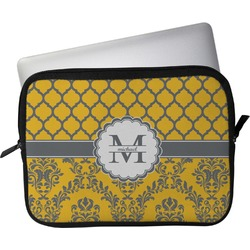 "Damask & Moroccan Laptop Sleeve / Case - 15"" (Personalized)"