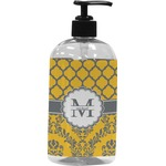 Damask & Moroccan Plastic Soap / Lotion Dispenser (Personalized)