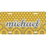 Damask & Moroccan Front License Plate (Personalized)