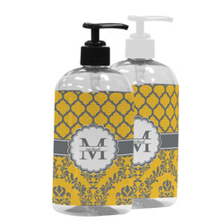 Damask & Moroccan Plastic Soap / Lotion Dispenser (Personalized)
