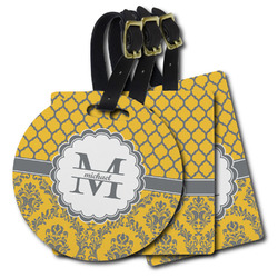 Damask & Moroccan Plastic Luggage Tags (Personalized)