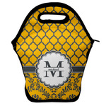 Damask & Moroccan Lunch Bag w/ Name and Initial