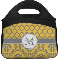 Damask & Moroccan Lunch Tote (Personalized)