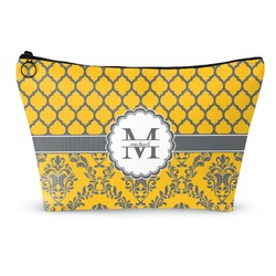 """Damask & Moroccan Makeup Bag - Small - 8.5""""x4.5"""" (Personalized)"""