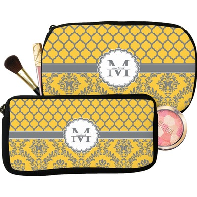 Damask & Moroccan Makeup / Cosmetic Bag (Personalized)
