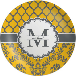 """Damask & Moroccan Melamine Plate - 8"""" (Personalized)"""