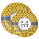 Damask & Moroccan Melamine Plate (Personalized)