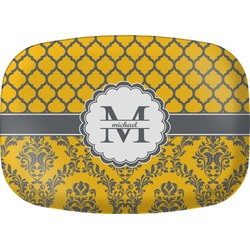Damask & Moroccan Melamine Platter (Personalized)