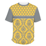 Damask & Moroccan Men's Crew T-Shirt (Personalized)