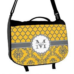 Damask & Moroccan Messenger Bag (Personalized)