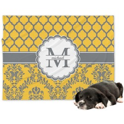 Damask & Moroccan Minky Dog Blanket (Personalized)