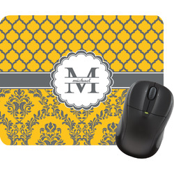 Damask & Moroccan Rectangular Mouse Pad (Personalized)