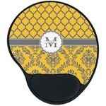 Damask & Moroccan Mouse Pad with Wrist Support