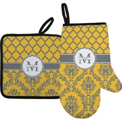 Damask & Moroccan Oven Mitt & Pot Holder (Personalized)