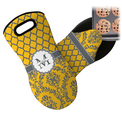 Damask & Moroccan Neoprene Oven Mitt (Personalized)
