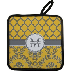Damask & Moroccan Pot Holder (Personalized)