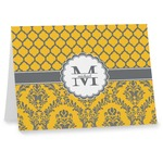Damask & Moroccan Note cards (Personalized)