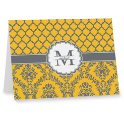 Damask & Moroccan Notecards (Personalized)