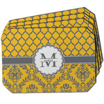Damask & Moroccan Dining Table Mat - Octagon w/ Name and Initial