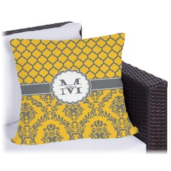 """Damask & Moroccan Outdoor Pillow - 26"""" (Personalized)"""