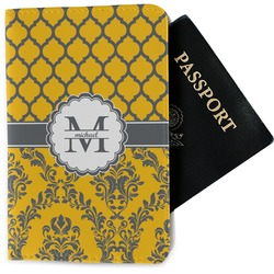 Damask & Moroccan Passport Holder - Fabric (Personalized)
