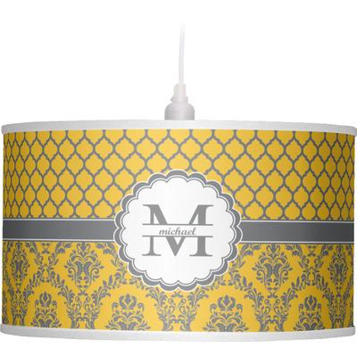 Damask & Moroccan Drum Pendant Lamp (Personalized)