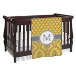 Damask & Moroccan Baby Blanket (Personalized)