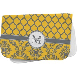 Damask & Moroccan Burp Cloth (Personalized)