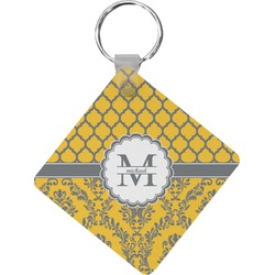 Damask & Moroccan Diamond Key Chain (Personalized)