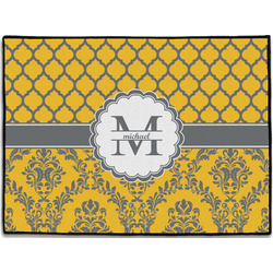 Damask & Moroccan Door Mat (Personalized)