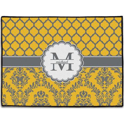 Damask & Moroccan Door Mat (Personalized)