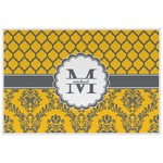 Damask & Moroccan Laminated Placemat w/ Name and Initial