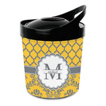 Damask & Moroccan Plastic Ice Bucket (Personalized)
