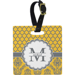 Damask & Moroccan Luggage Tags (Personalized)