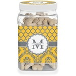 Damask & Moroccan Dog Treat Jar (Personalized)