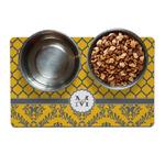 Damask & Moroccan Dog Food Mat (Personalized)