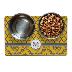 Damask & Moroccan Dog Food Mat (Personalized)