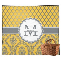 Damask & Moroccan Outdoor Picnic Blanket (Personalized)