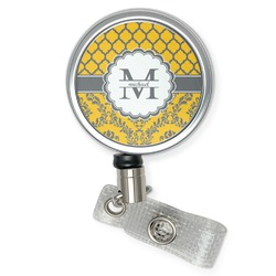 Damask & Moroccan Retractable Badge Reel (Personalized)